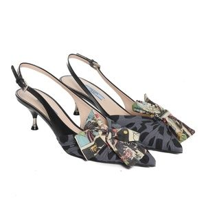 Prada Comic Bow Sling Backs